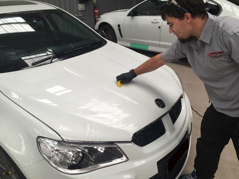 Holden GTR Paint Protection Technician In Progress